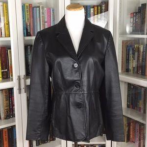Studio Y Vintage Black Leather Jacket
